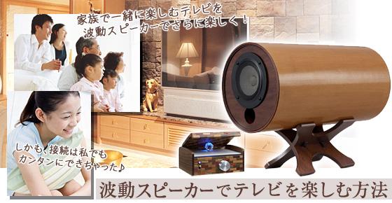 波動スピーカーでテレビを楽しむ方法